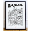 Illustration Barcelone (2 tailles)