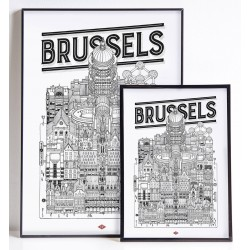 Illustration Brussels (2 tailles)